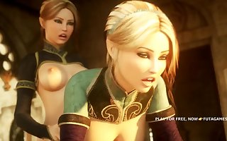 ERALIN AND MERAILIN, 3d futa fucks futa, hot episode 2