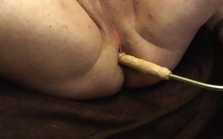 Extreme anal play at home
